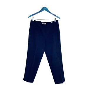 St. John Collection Blue Poly Cotton Emma Trousers
